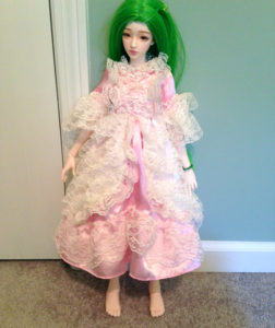 Laele's new dress before alteration