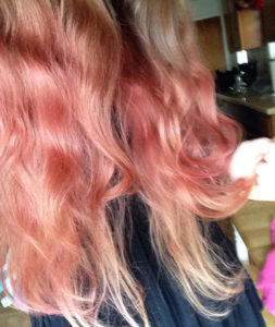 Special Effects Atomic Pink, extremely diluted, on bleached hair