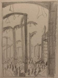 The City of Arches - Sketch by Beth Alvarez