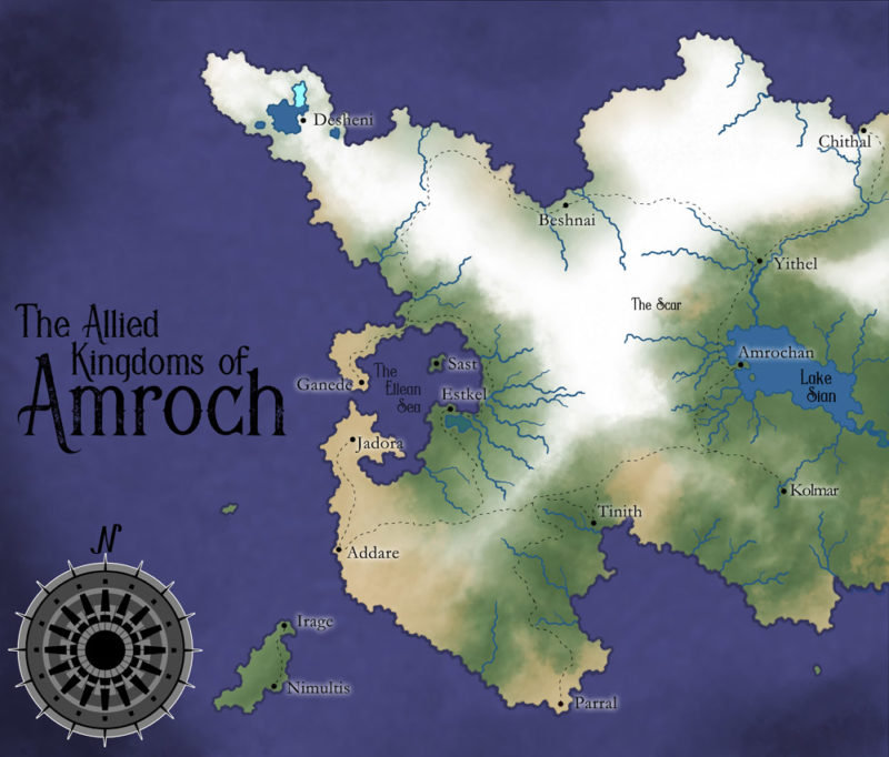 Map of Amroch from Spectrum Blade