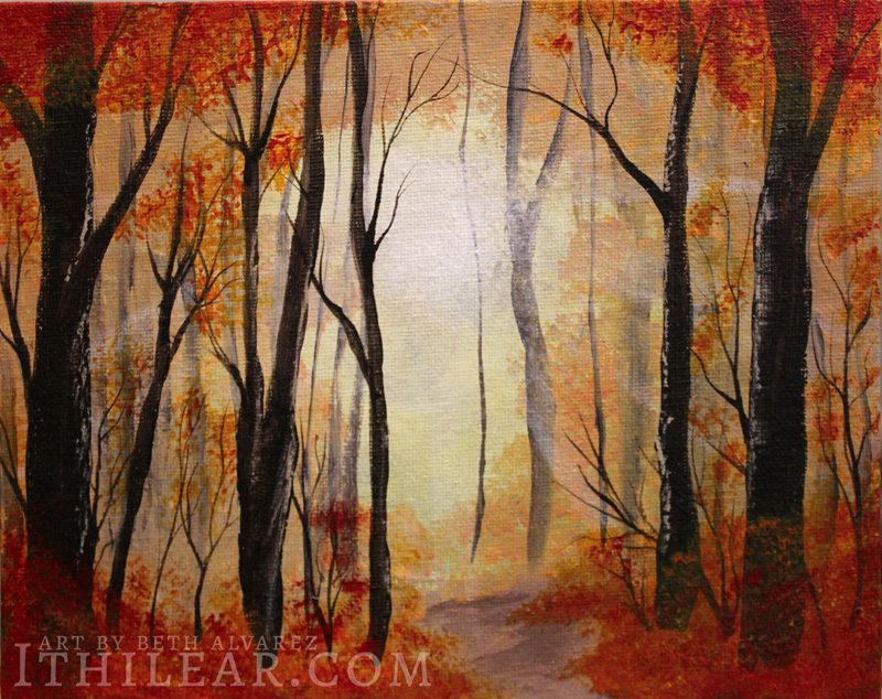 Autumn - painting by Beth Alvarez