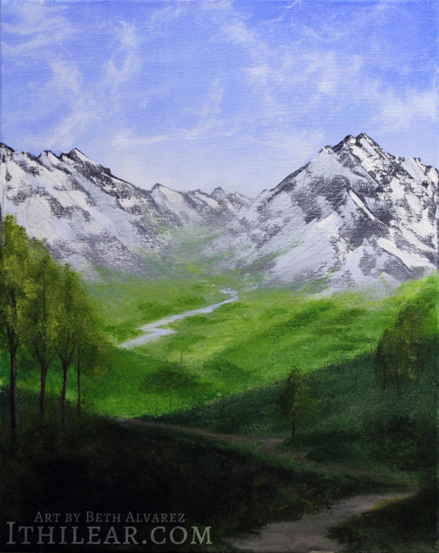 Aldaeon Valley - Painting by Beth Alvarez